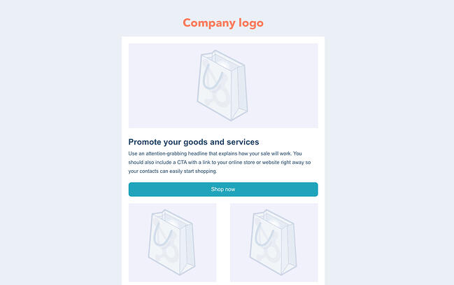 Free HTML email template by HubSpot