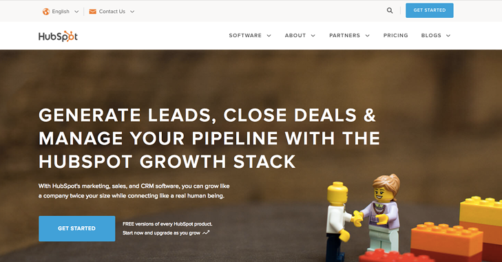 HubSpot homepage web design