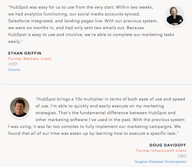 12 testimonial page examples youll want to copy hubspot testimonial example accmission Gallery
