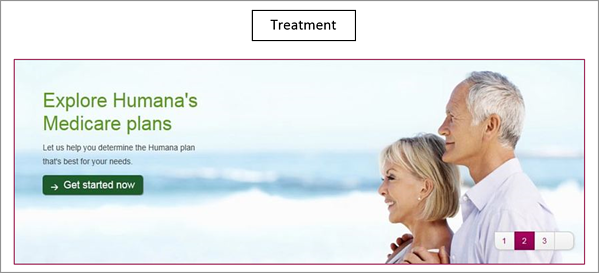 Humana variation B site banner.