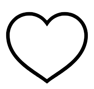 outlined black heart icon