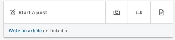 LinkedIn status bar