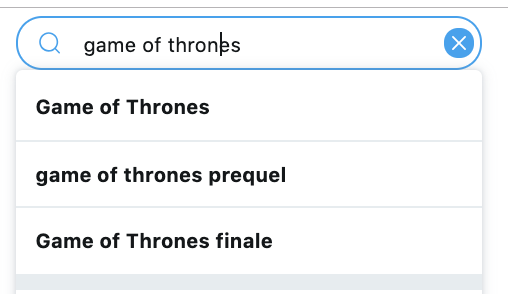 Searching Game of Thrones on Twitter