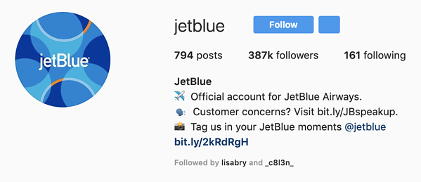 Jetblue Instagram Profile Picture