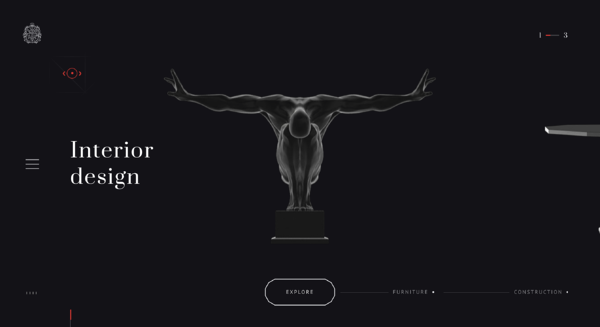 galardonado sitio web de diseño de interiores