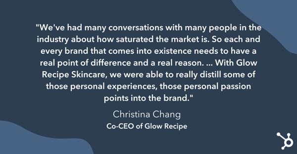 کریستینا چانگ در بازار اشباع صنعت لوازم آرایشی.
