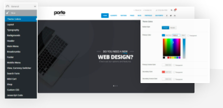 Porto Wordpress theme for digital agencies