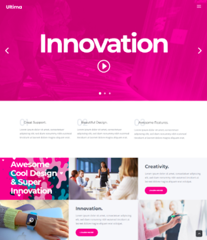 Innovation WordPress video theme