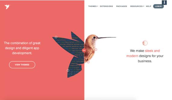 Split-Screen Page layout