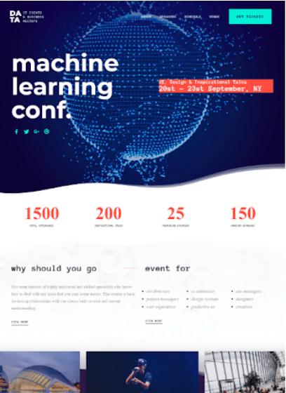Regn WordPress conference theme