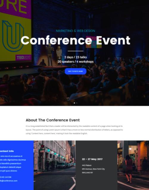 Folie - Wordpress conference theme