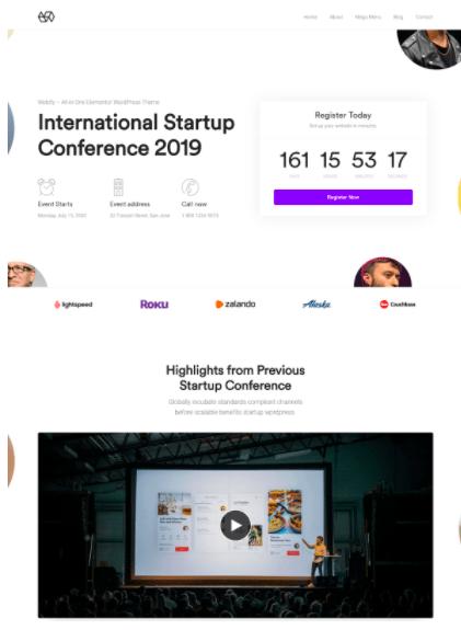Webify - Conference WordPress theme
