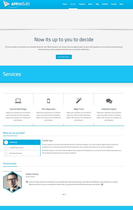 App Mojo- Wordpress theme for mobile apps