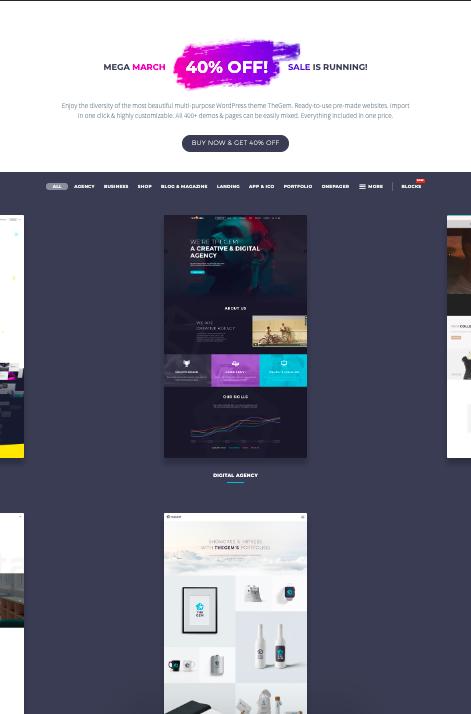 The Gem - WordPress theme - Full Screen