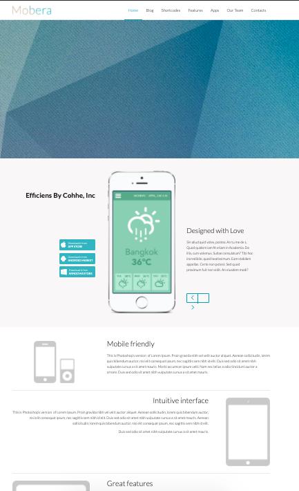 Mobera-wordpress-theme for mobile apps
