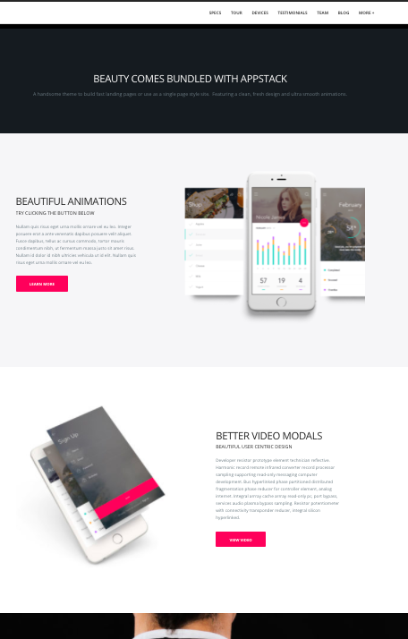 Appstack-wordpress theme for mobile apps