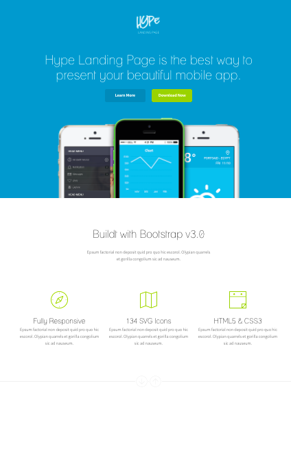 Hype-WordPress-theme for mobile apps