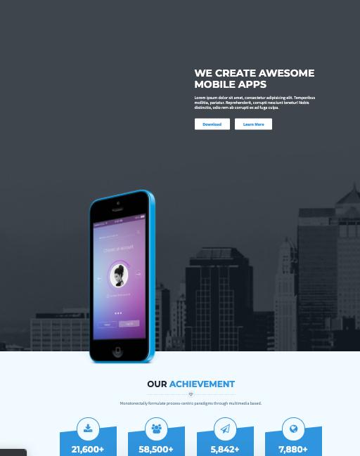 Appsworld-Wordpress theme for mobile apps