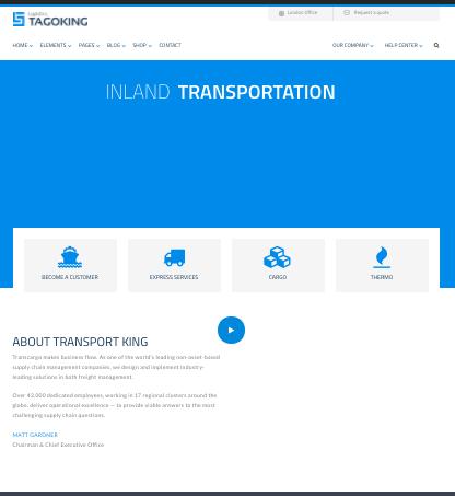 TagoKing - WordPress Logistics Theme