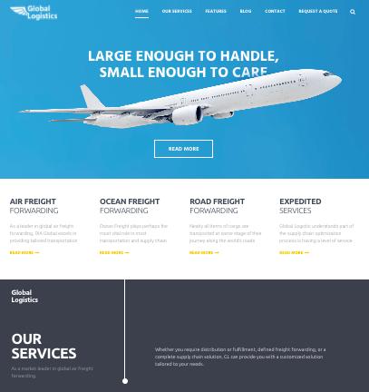Global Logistics - WordPress themes for Logistics and transportation