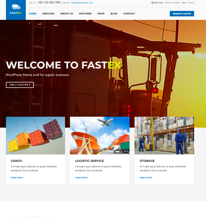 FastEX - WordPress logistics and transportation theme