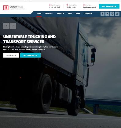 CargoPress WordPress logistics and transportation theme