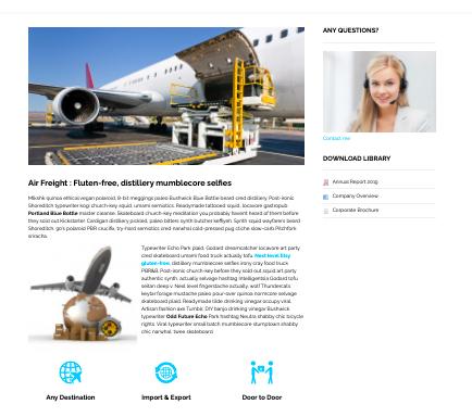 Logistic WordPress Transportation and Logistic Themes