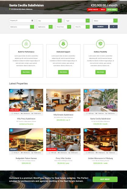 Homeland WordPress Real Estate Theme