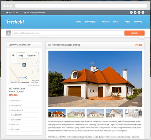 FreeHold Real Estate WordPress Theme