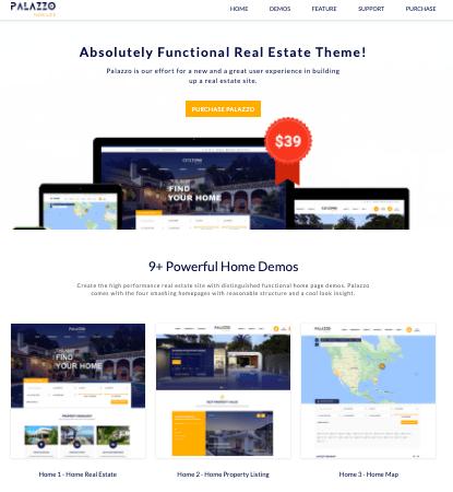 Palazzo WordPress real estate theme