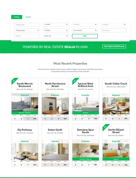 Realocation WordPress real estate theme