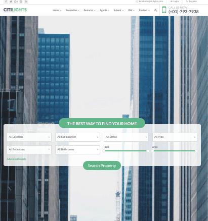 Citilights WordPress Real Estate Theme