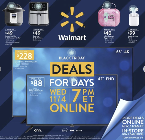 Walmart Black Friday Deals for Days Ads