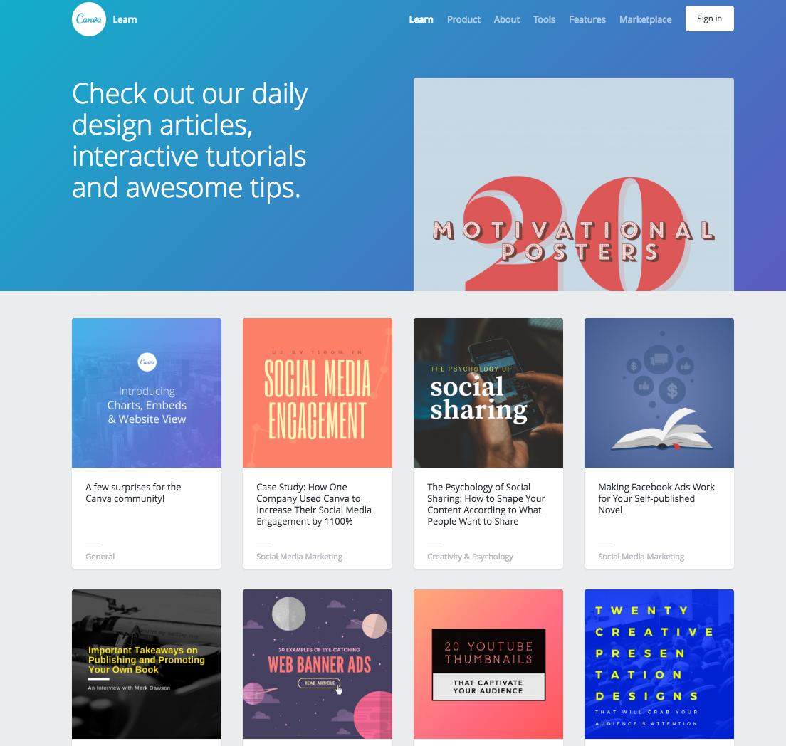 Canva design blog