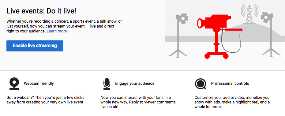 YouTube Live Events