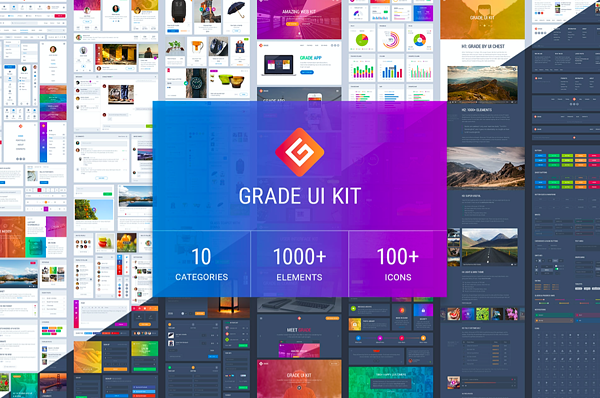 grade ui kit homepage