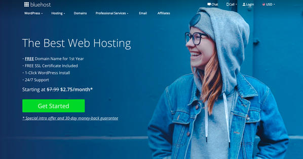 blue host affiliate program page