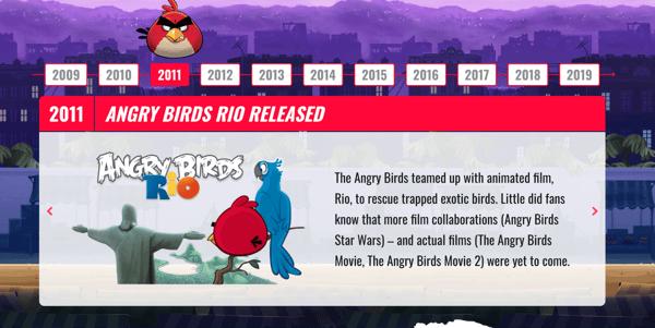 angry birds slider widget on wordpress