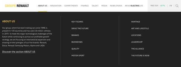 renault responsive website