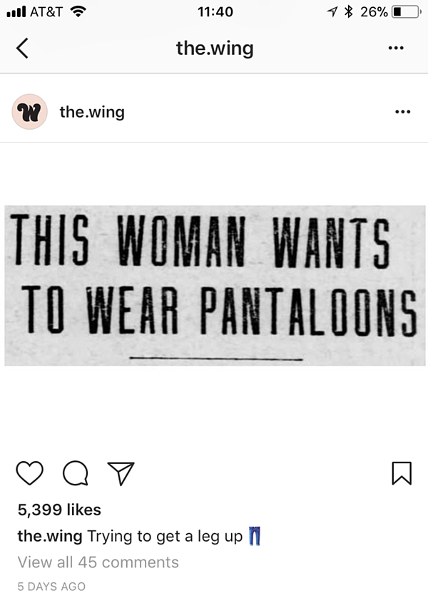 write great instagram captions the wing