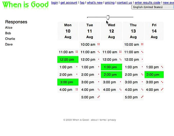 WhenIsGood Best Group Scheduling App