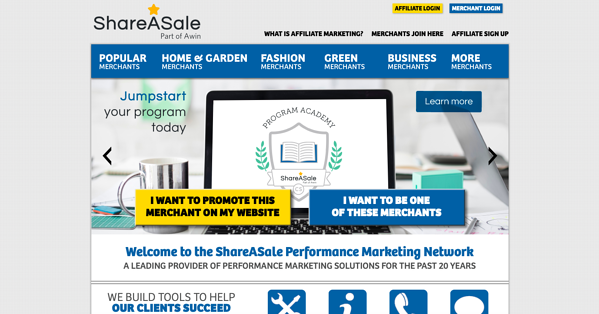 sharesale homepage