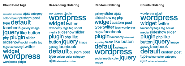 Using the Extended Tags Widget, you can display your tags by popularity or 20 other styles