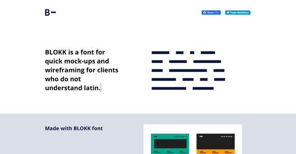 blokk font home page
