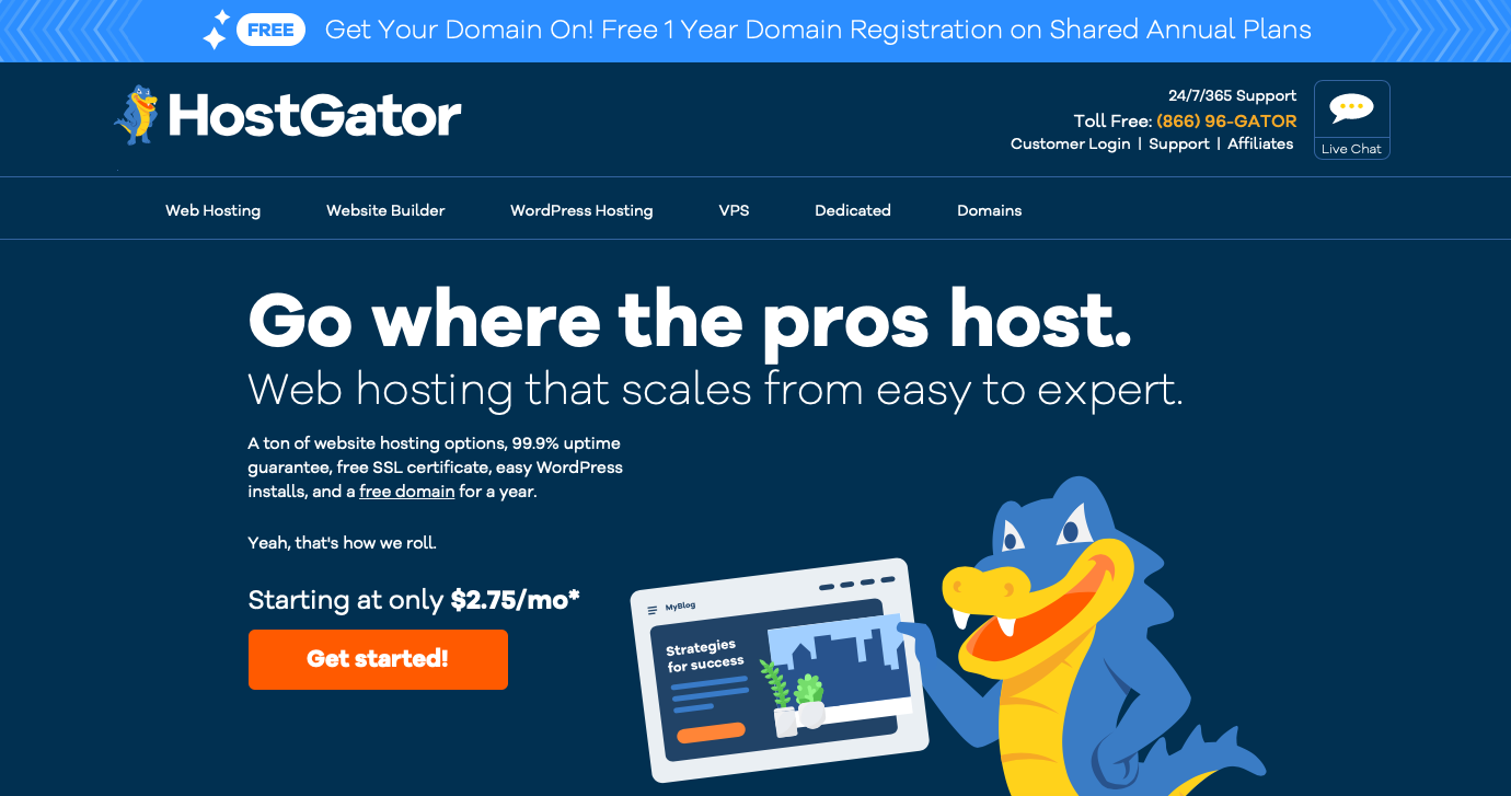 hostgator homepage affiliate