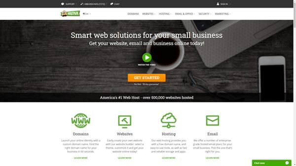host papa domain registrar homepage