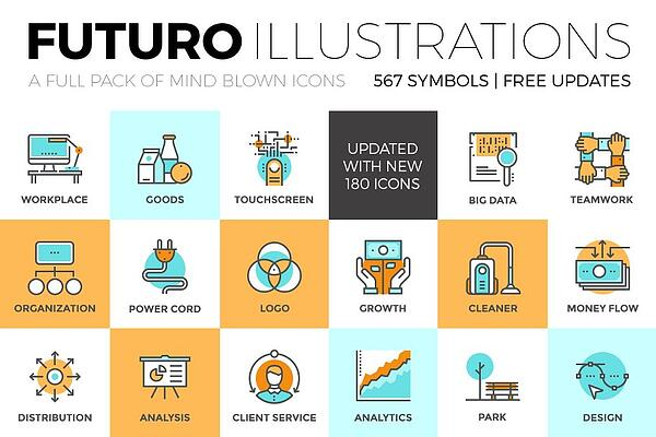 futuro illustrations icons