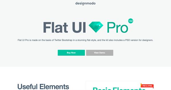 flat ui pro homepage
