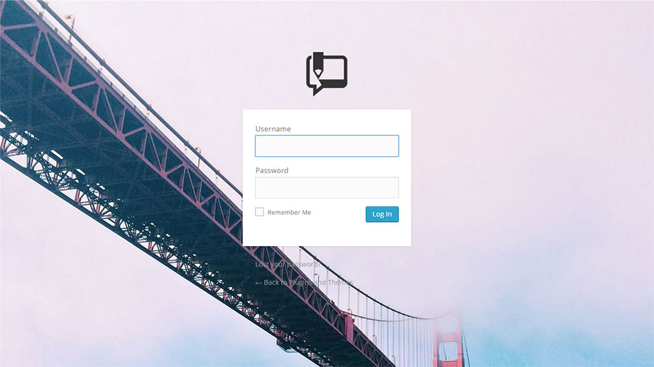 Example of custom login page using Custom Login Page Customizer WordPress plugin