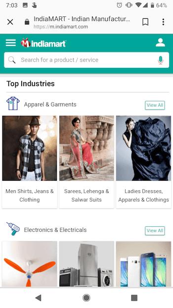 indiamart-mobile-website
